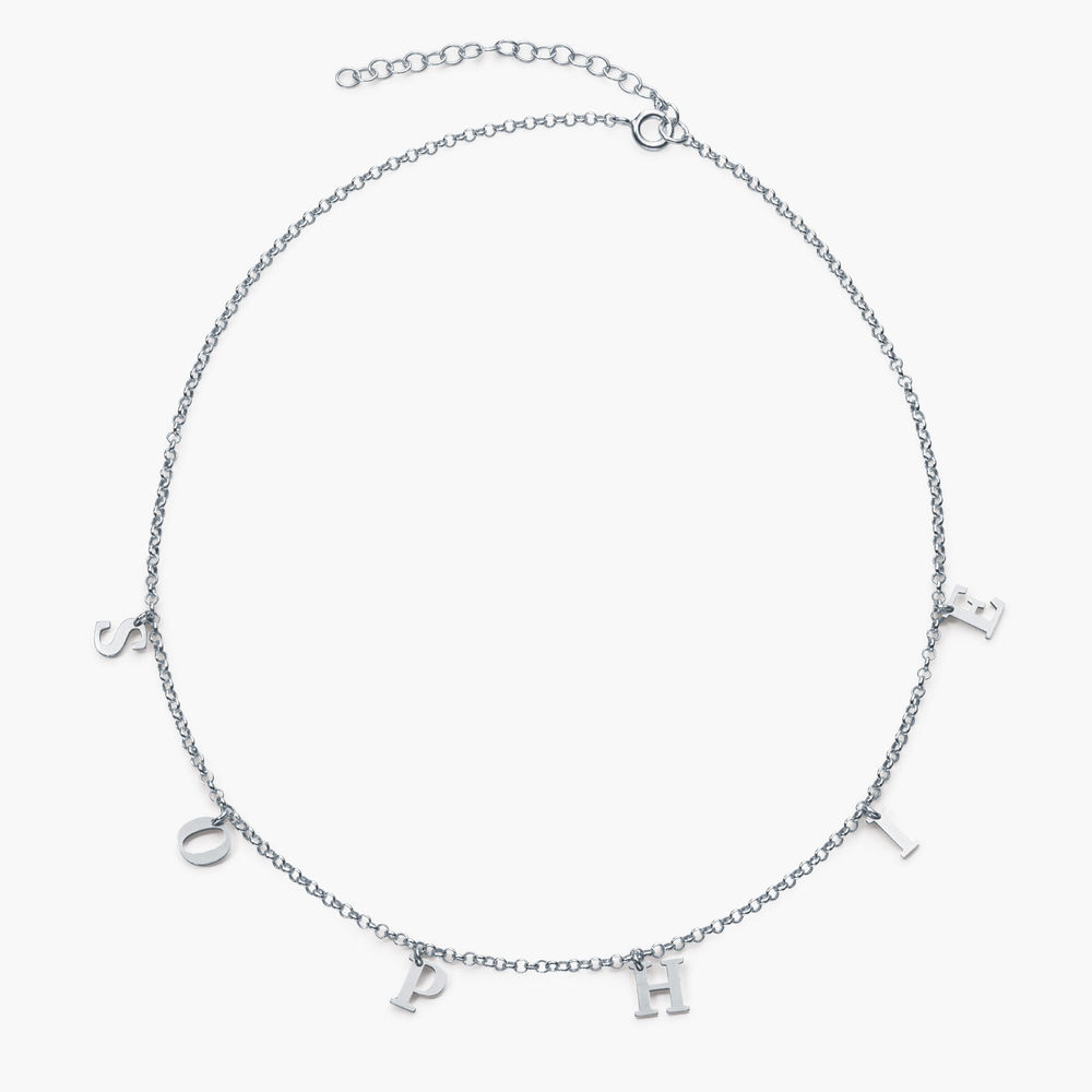A to Z Name Choker - Silver - 1