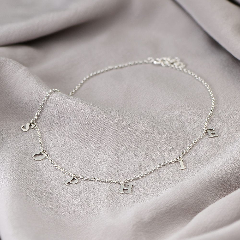 A to Z Name Choker - Silver - 2