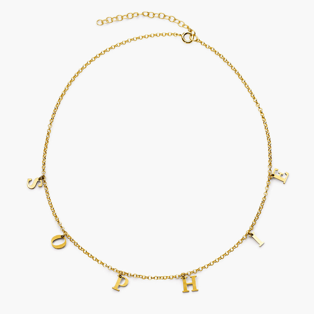 A to Z Name Choker - Gold Plated - 1