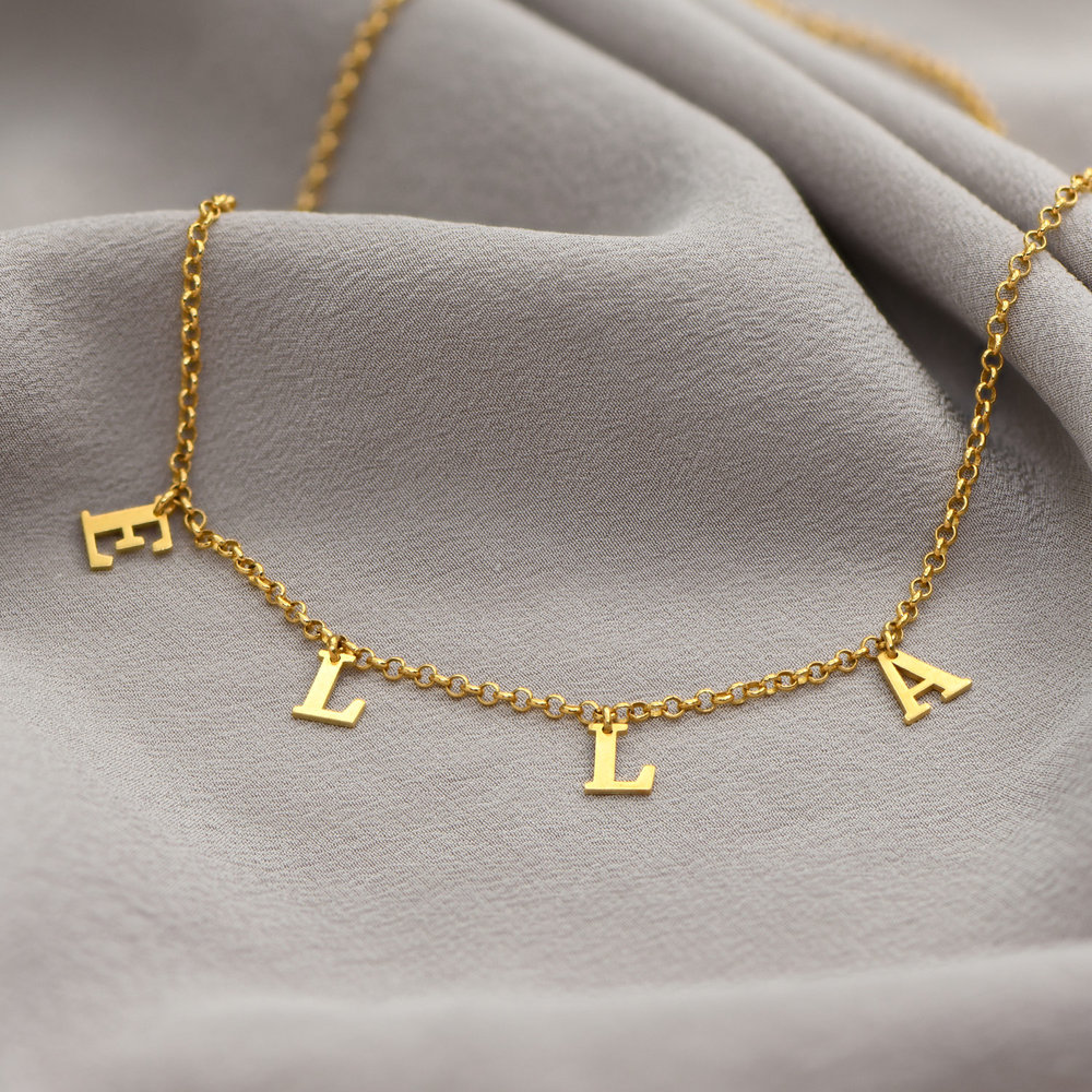 A to Z Name Choker - Gold Plated - 2