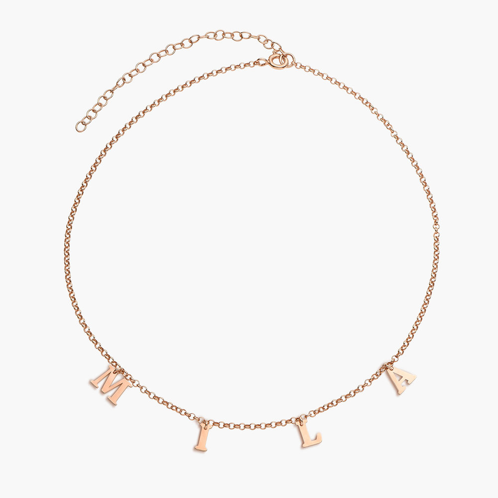 A to Z Name Choker - Rose Gold Plated