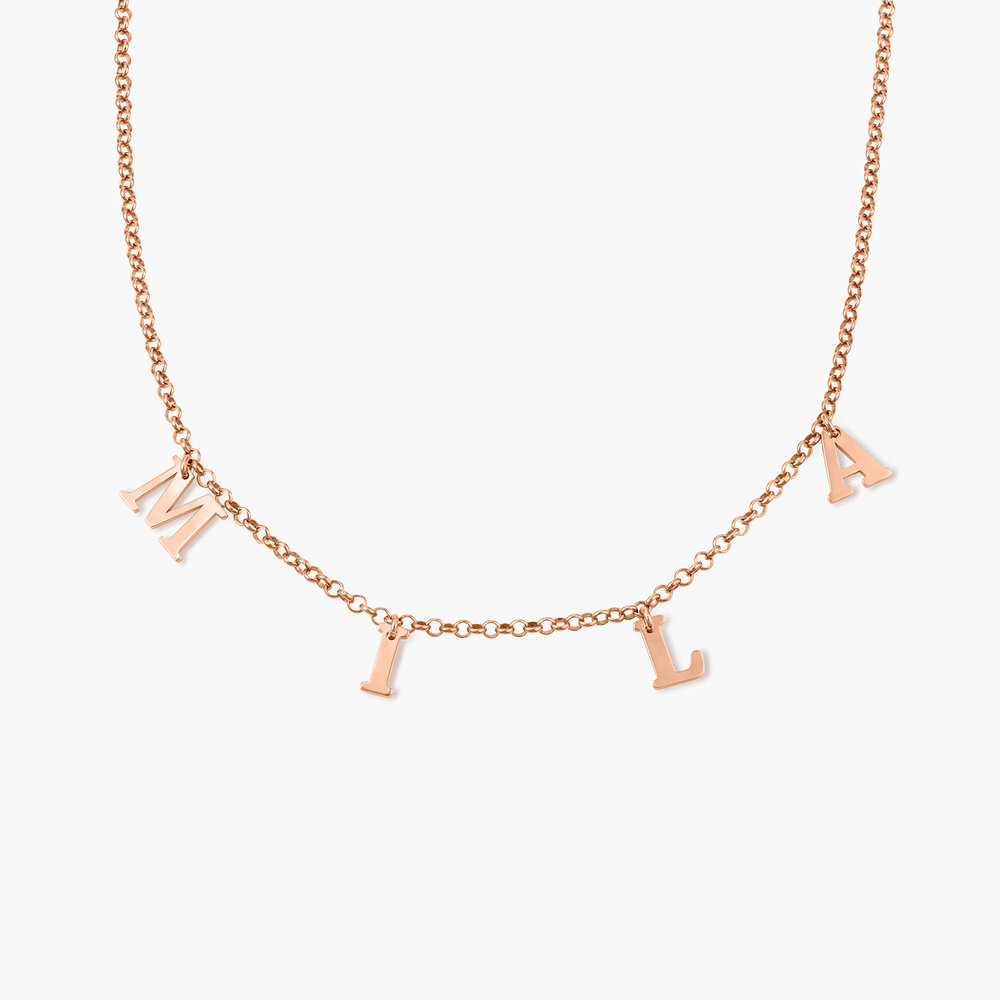 A to Z Name Choker - Rose Gold Plated - 1