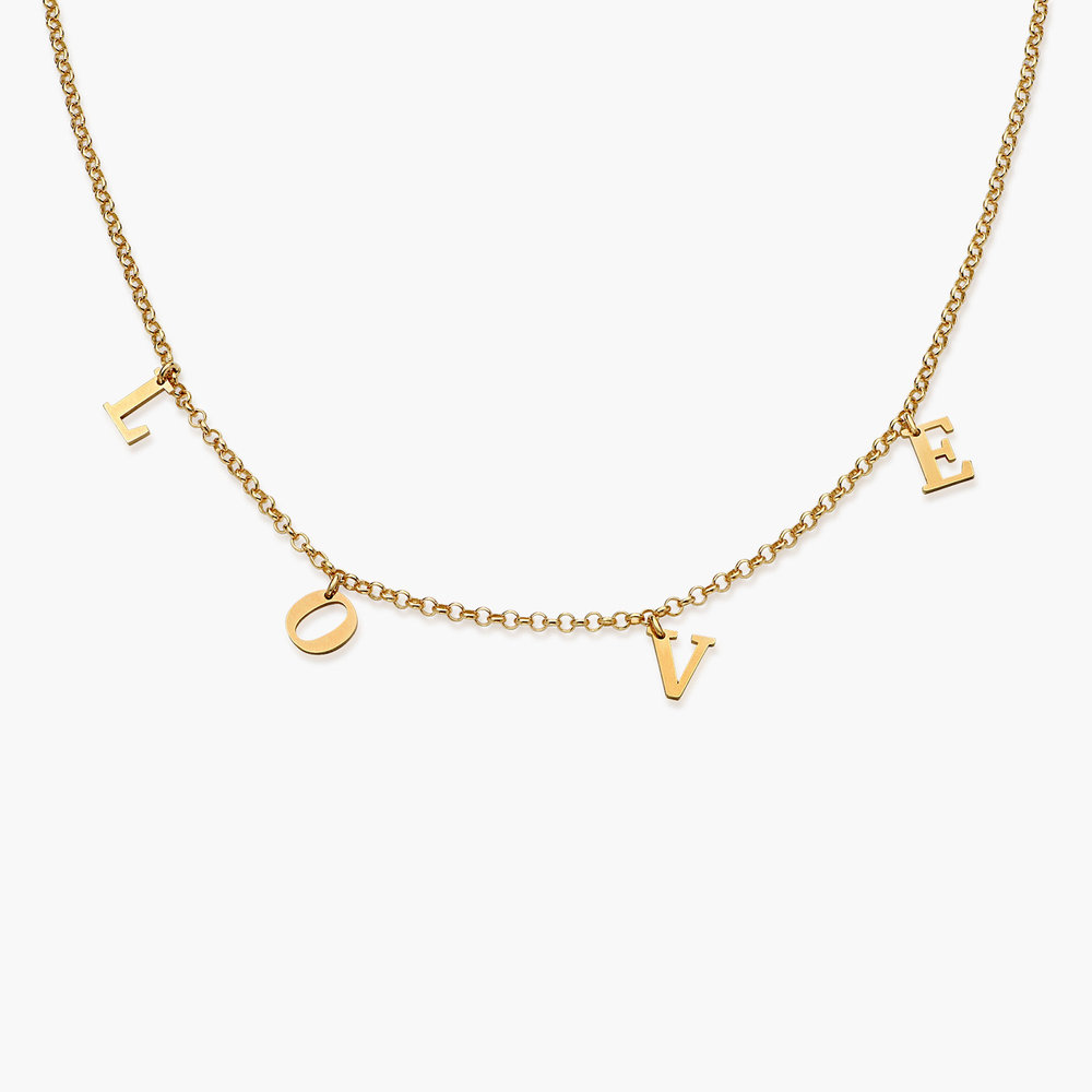 A to Z Name Choker - 18K Gold Vermeil