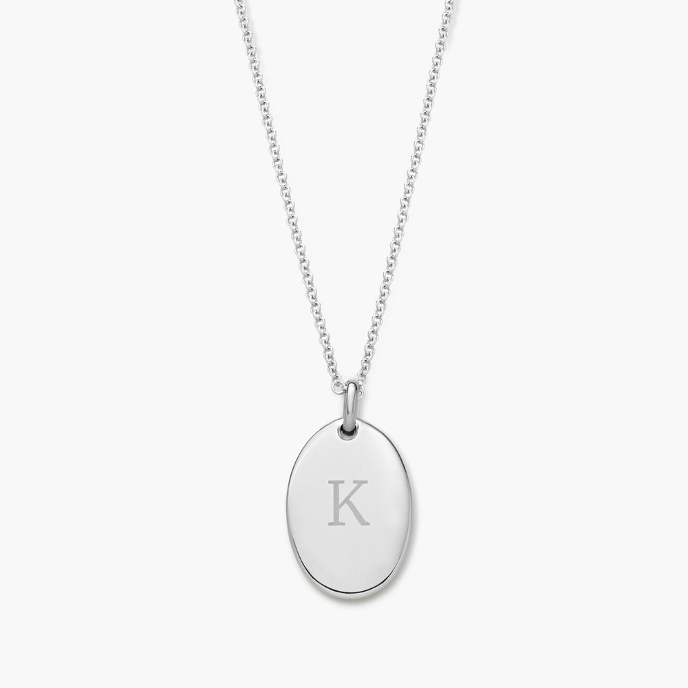 Luna Oval Necklace - Silver