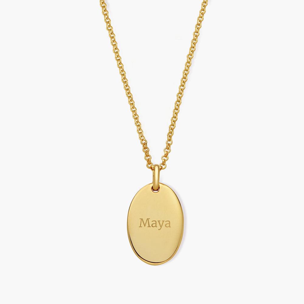 Luna Oval Necklace - Gold Vermeil