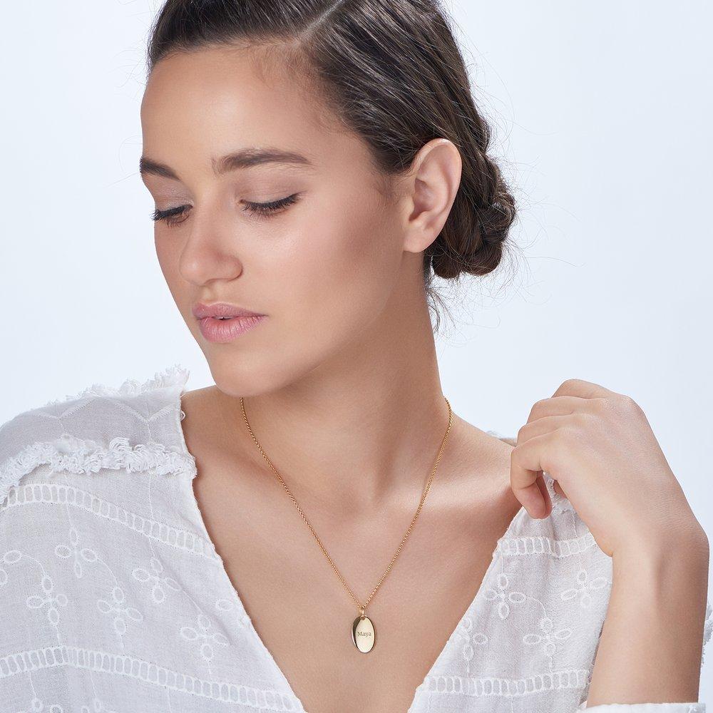 Luna Oval Necklace - Gold Vermeil - 1