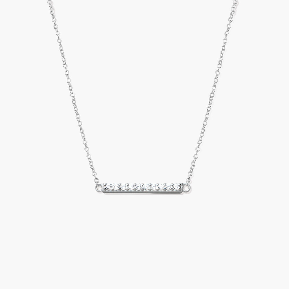 Stardust Bar Necklace - Silver