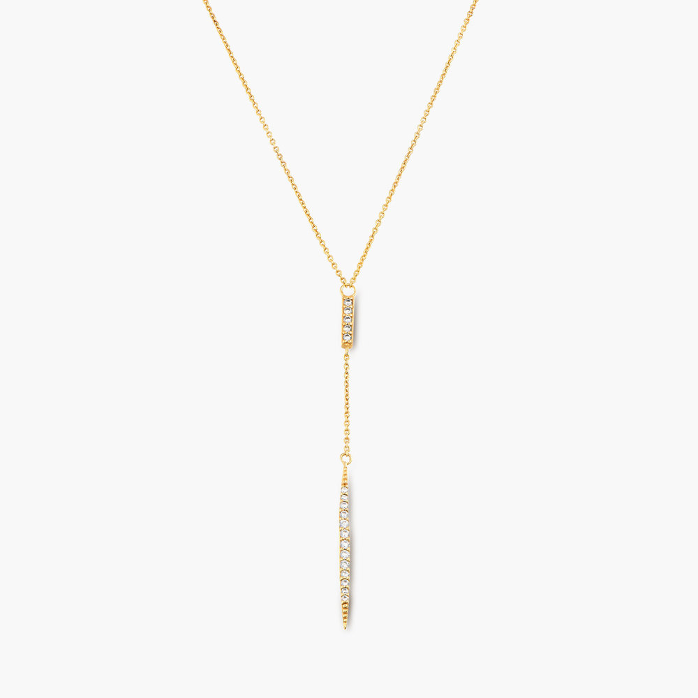 Elle Necklace with Cubic Zirconia - Gold Plated