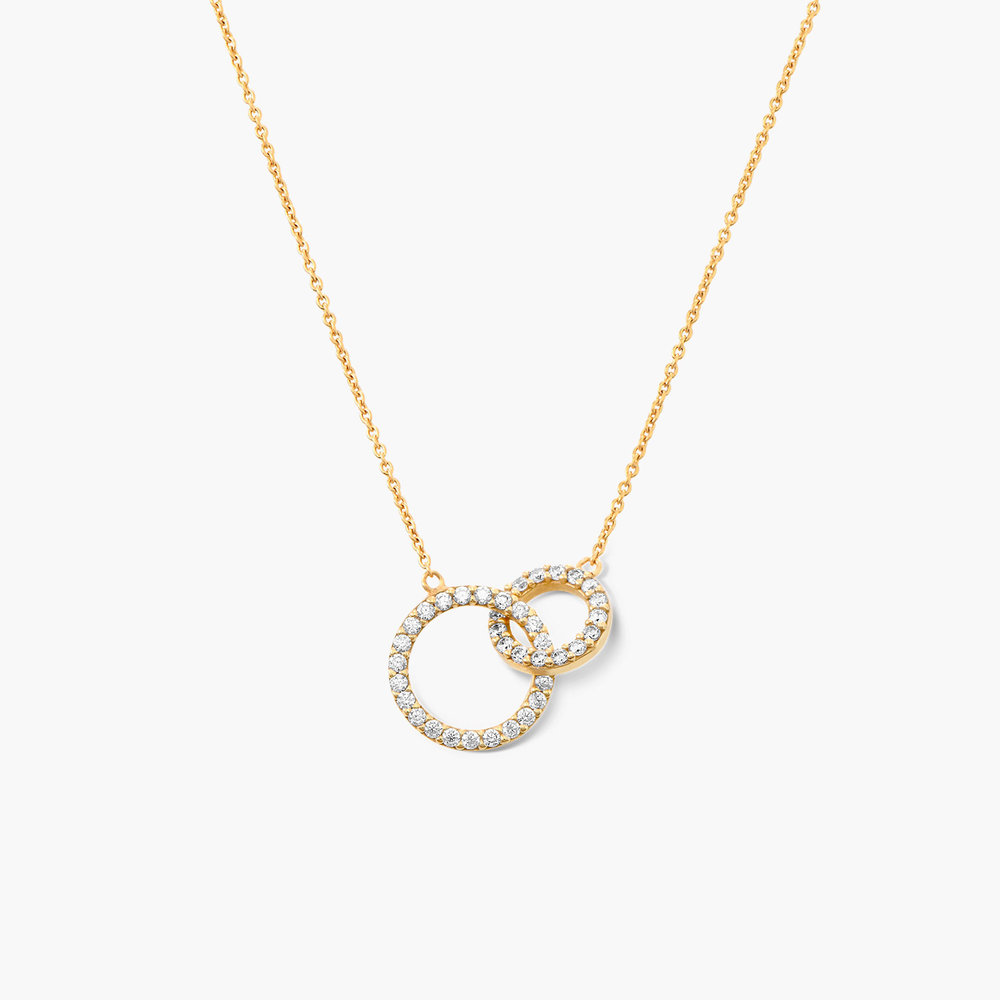 Double Eclipse Necklace - Gold Plated