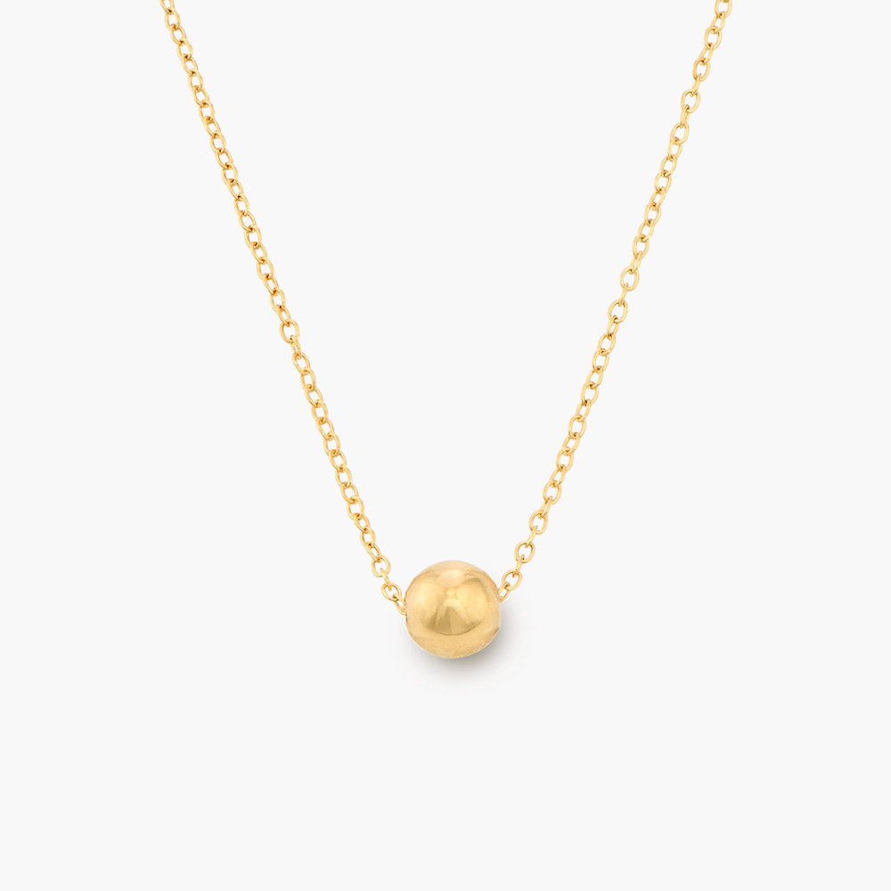Ball & Chain Necklace - Gold Plated