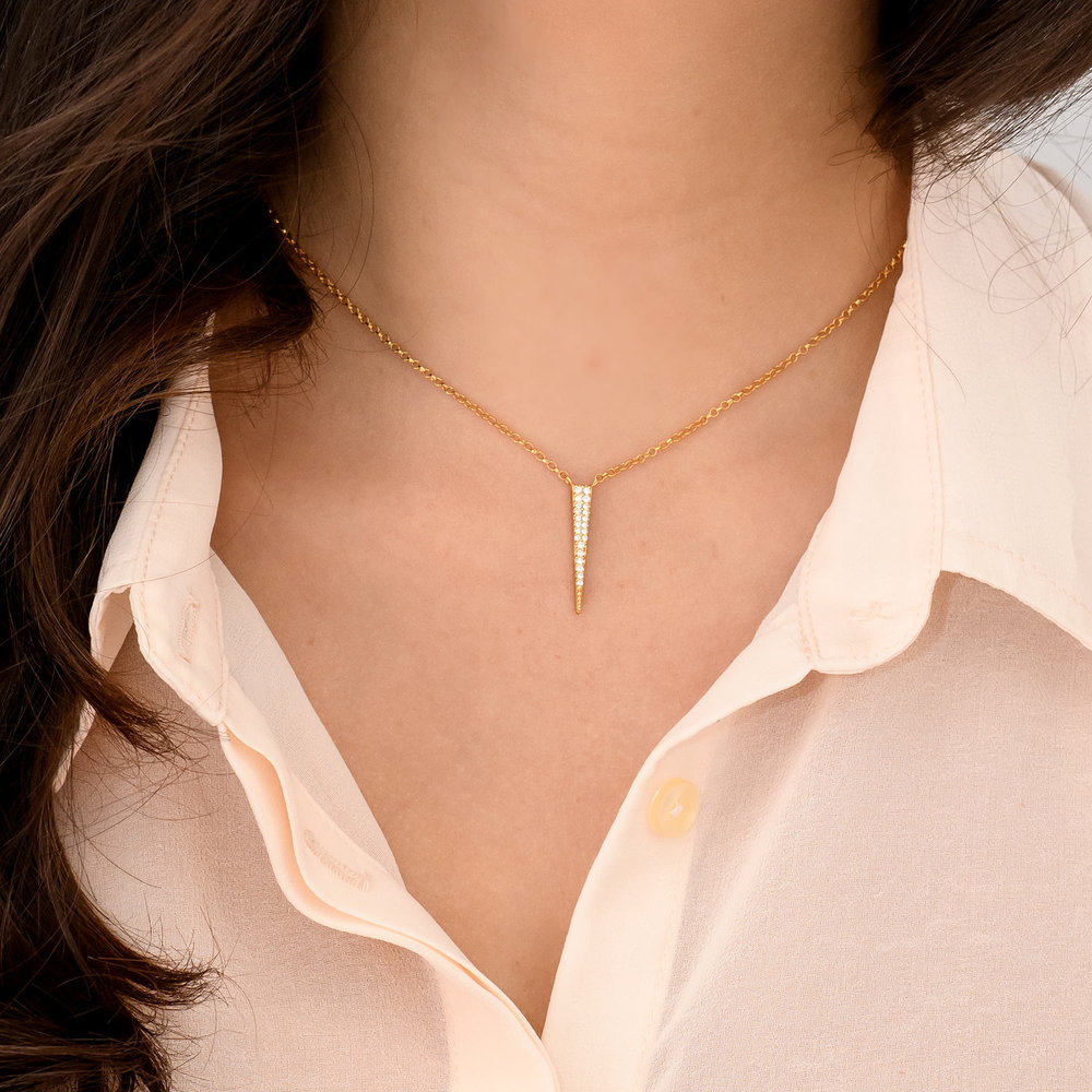 Bright Thorn Necklace - Gold Plated - 2