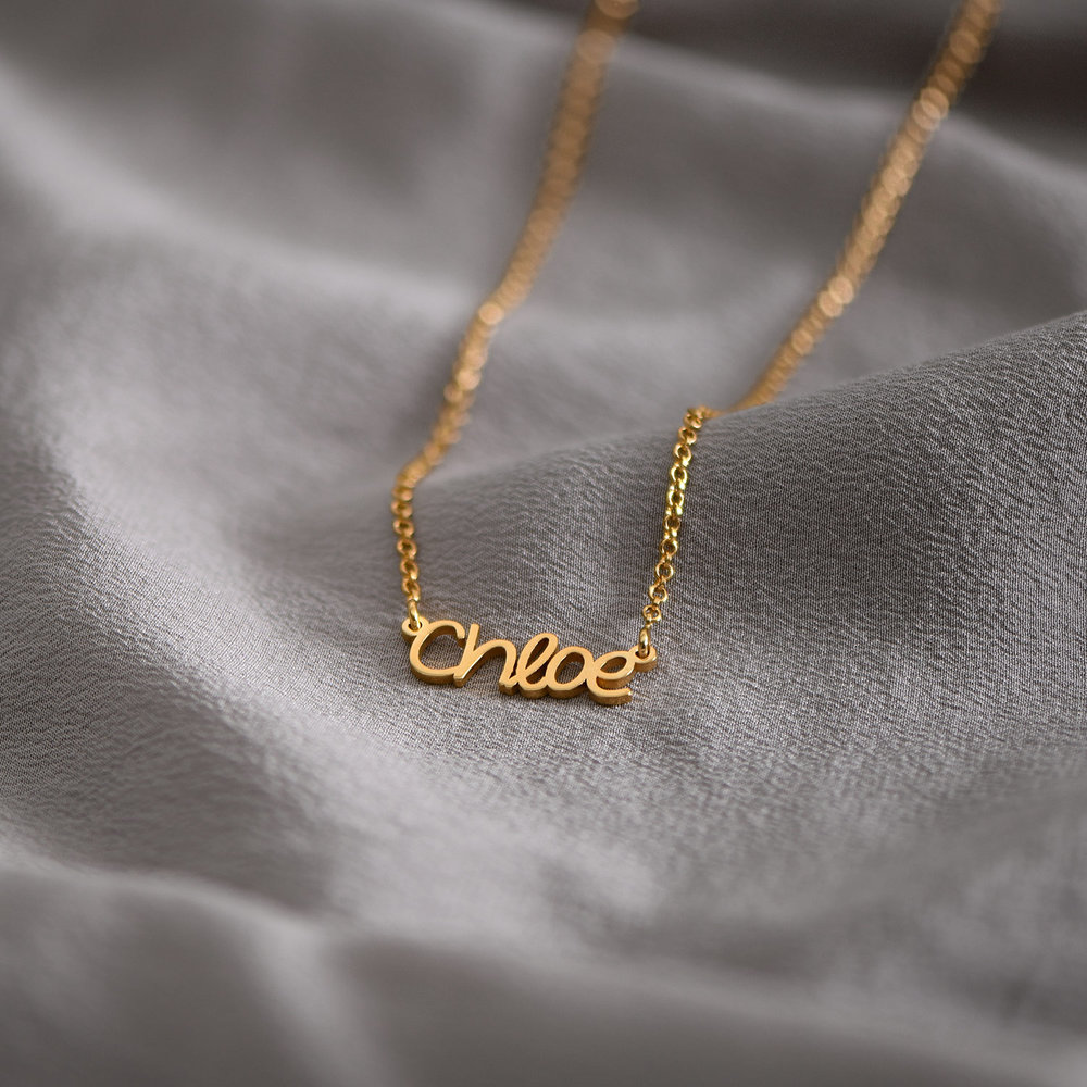 Pixie Name Necklace - Gold Plated - 1