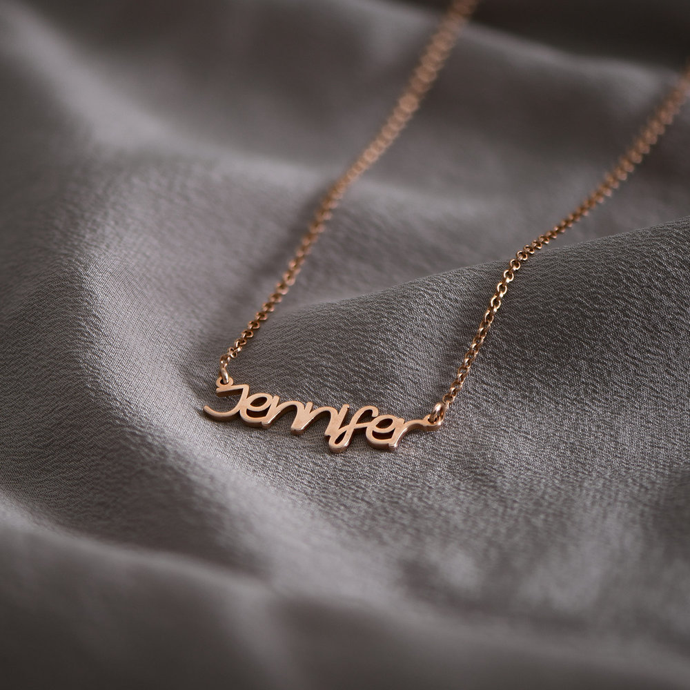 Pixie Name Necklace - Rose Gold Plated - 1