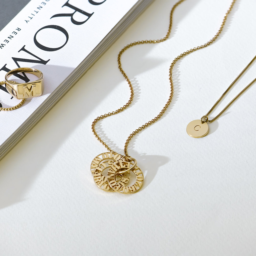 Tokens of Love Necklace - Gold Plated - 2