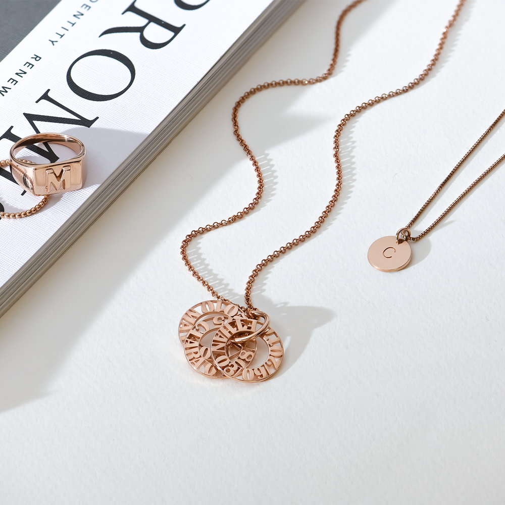 Tokens of Love Necklace - Rose Gold Plated - 2