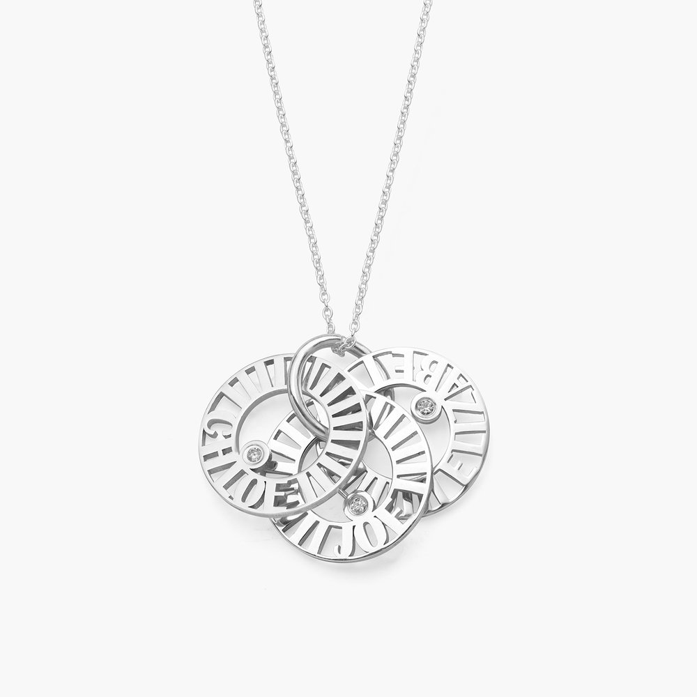 Tokens of Love Necklace with Diamond - Silver