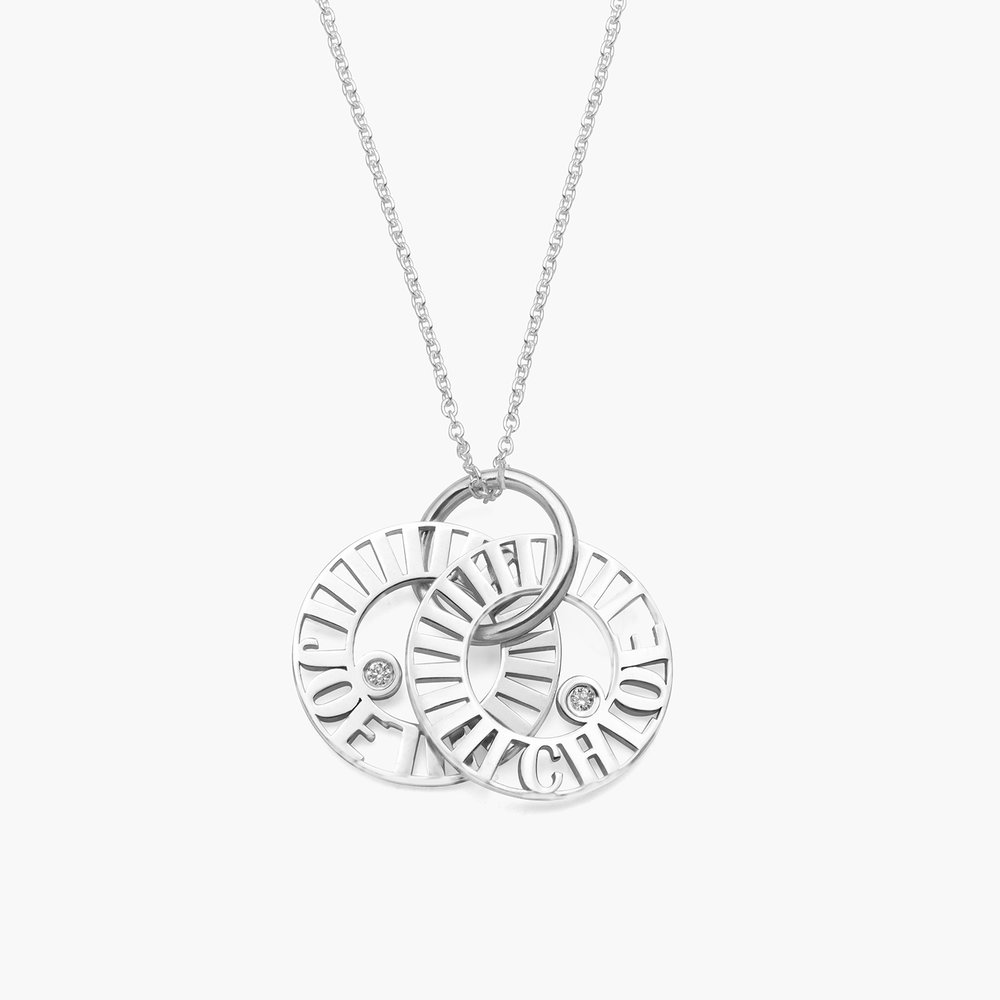 Tokens of Love Necklace with Diamond - Silver - 1