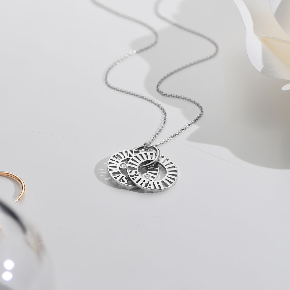 Tokens of Love Necklace with Diamond - Silver - 2