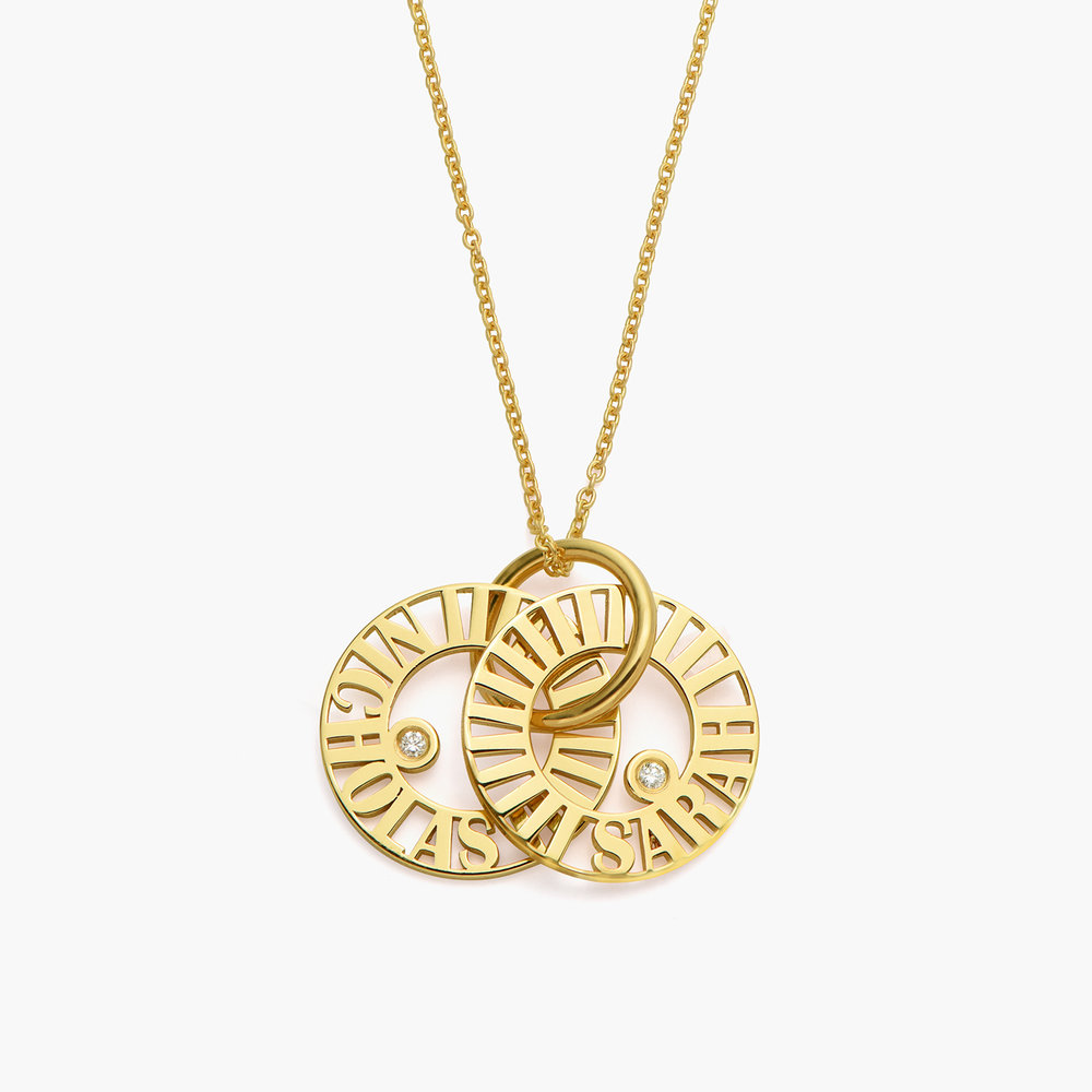 Tokens of Love Necklace with Diamond - Gold Plated