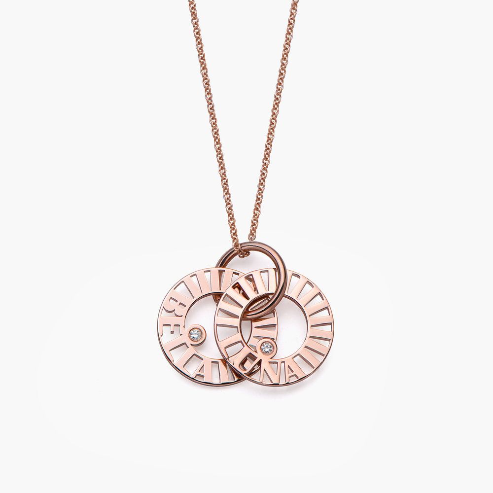 Tokens of Love Necklace with Diamond - Rose Gold Plated - 1