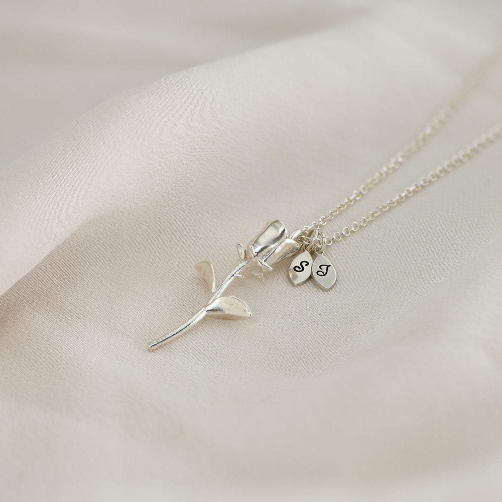 Forever Rose Necklace - Silver - 2