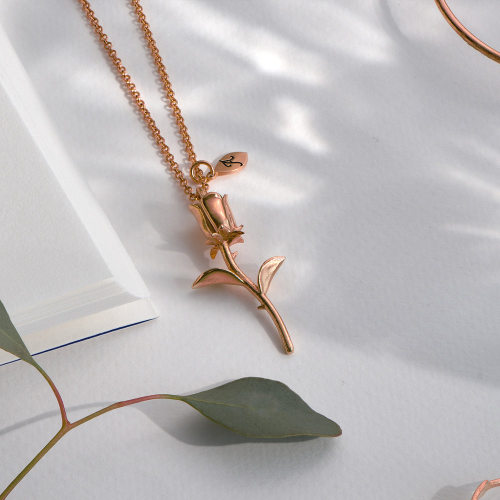 Forever Rose Necklace - Rose Gold Plated - 2