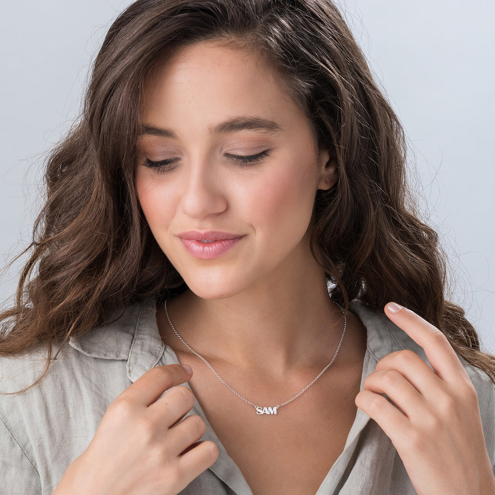 Gatsby Name Necklace - Silver - 1