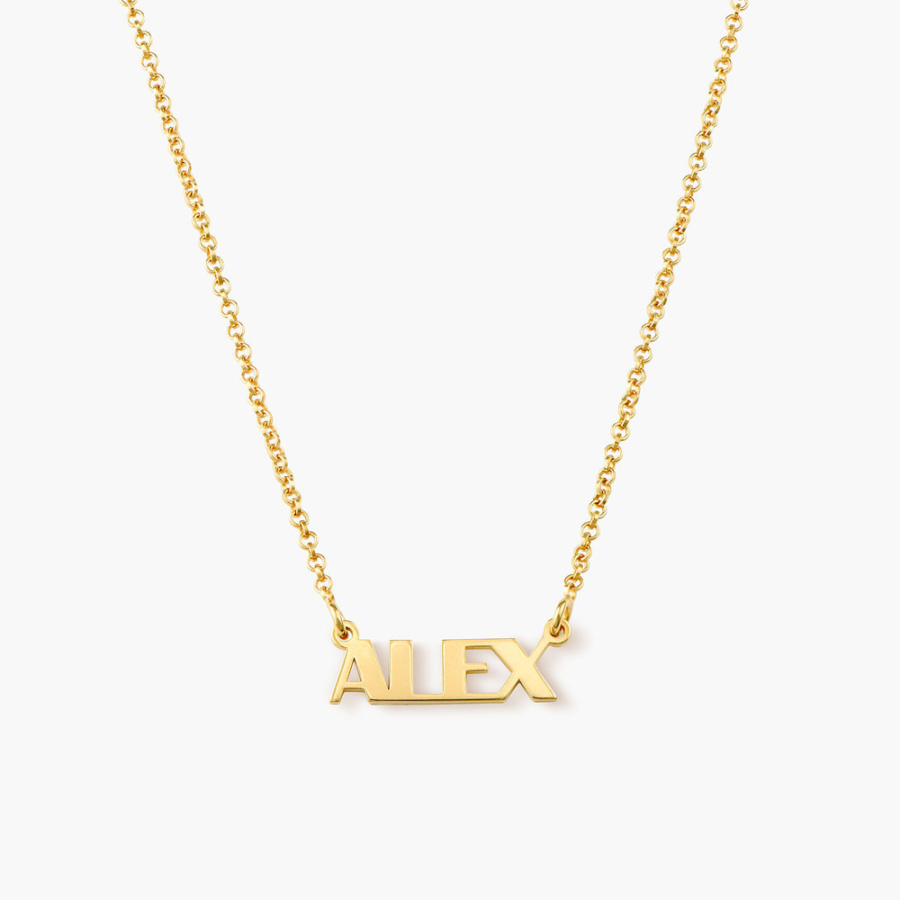 Gatsby Name Necklace - Gold Plated