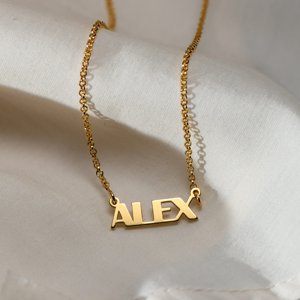 Gatsby Name Necklace - Gold Plated - 1