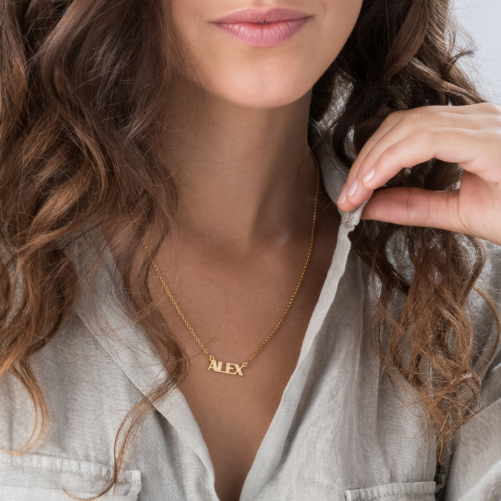 Gatsby Name Necklace - Gold Plated - 3