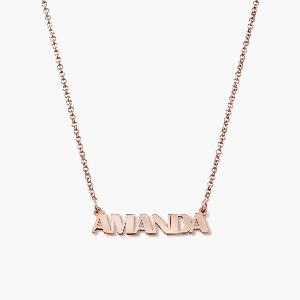 Gatsby Name Necklace - Rose Gold Plated