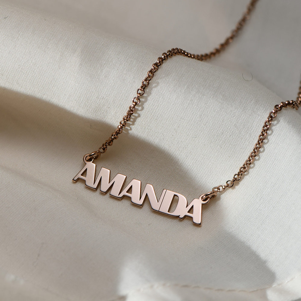 Gatsby Name Necklace - Rose Gold Plated - 1
