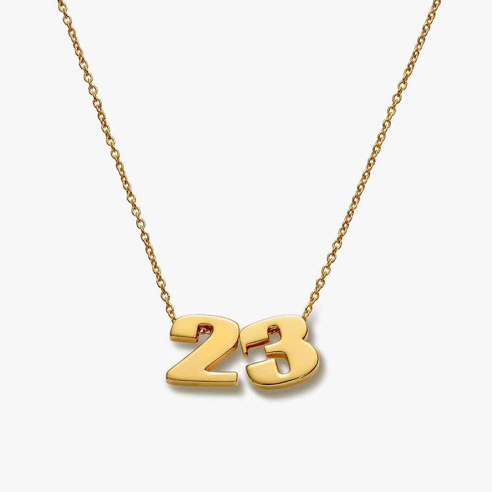 Number Necklace - Gold Plated