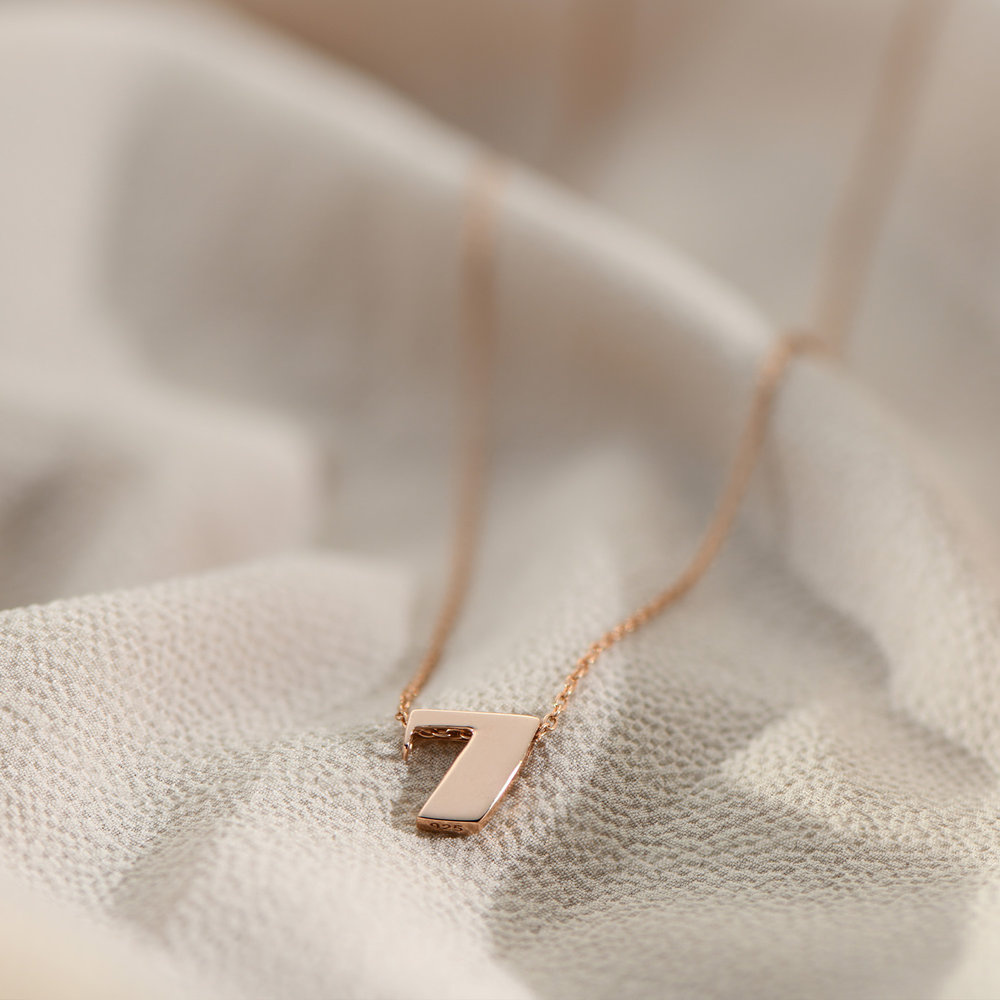 Number Necklace - Rose Gold Plated - 1