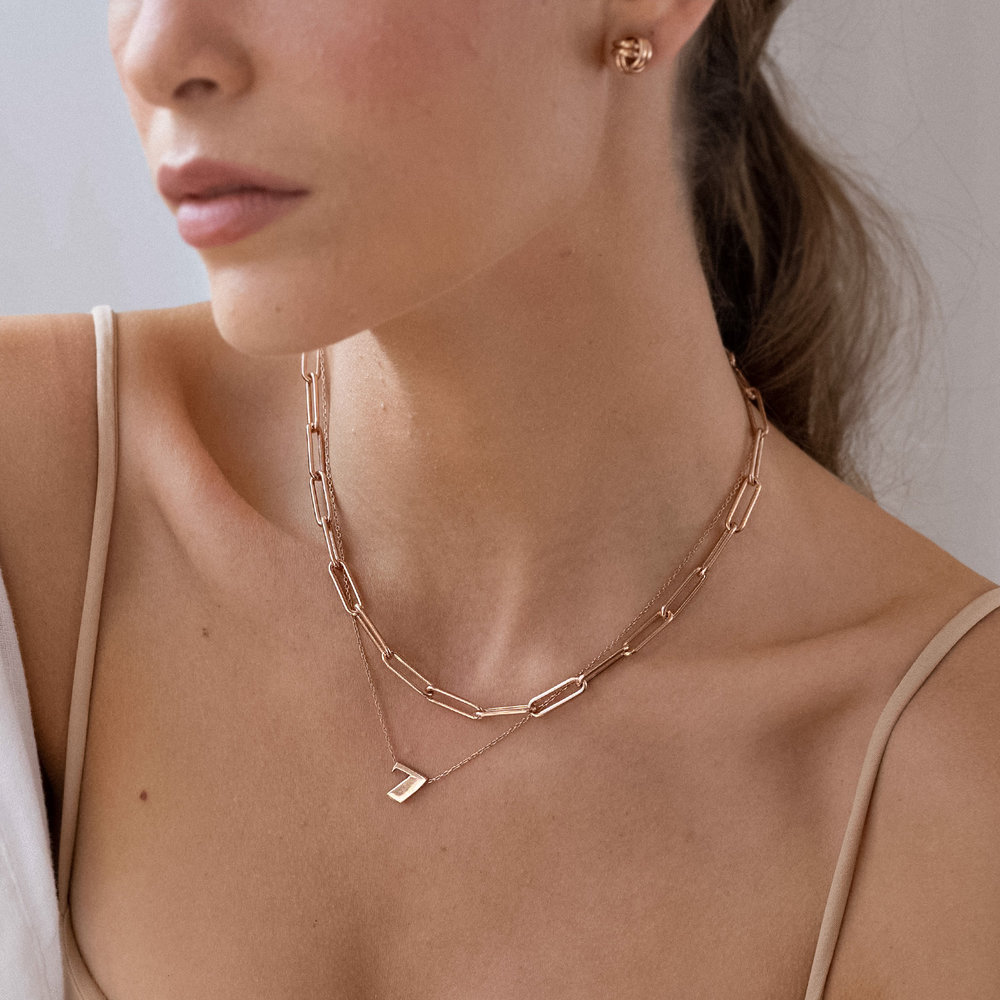 Number Necklace - Rose Gold Plated - 2