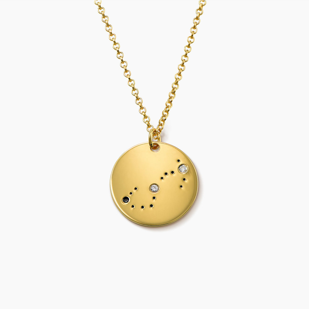 Scorpio Zodiac Necklace with Diamonds - Gold Plated