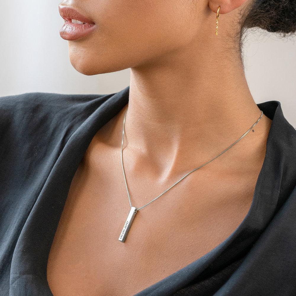Pillar Bar Necklace - Silver - 5