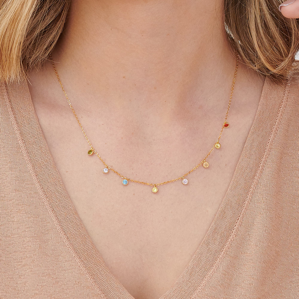 Rainbow Necklace - Gold Plated - 2