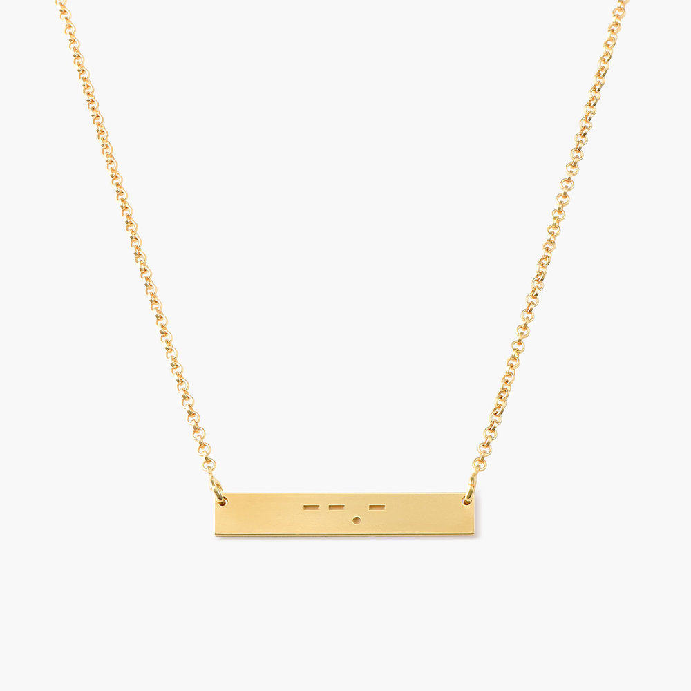 Crack the Code - Morse Code Necklace - Gold Plated