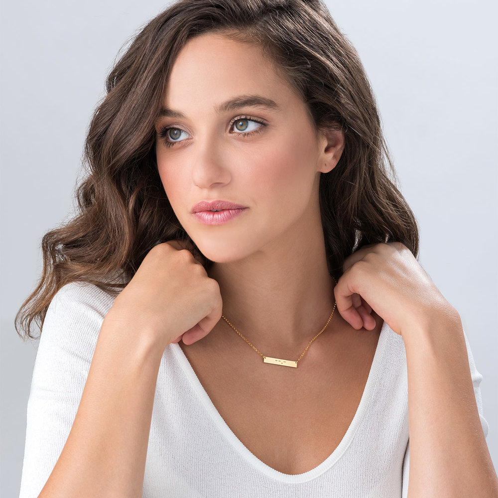 Crack the Code - Morse Code Necklace - Gold Plated - 1