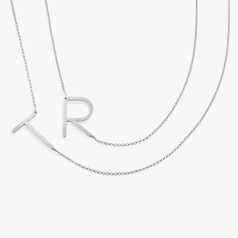 Initial Necklace - Silver - 1