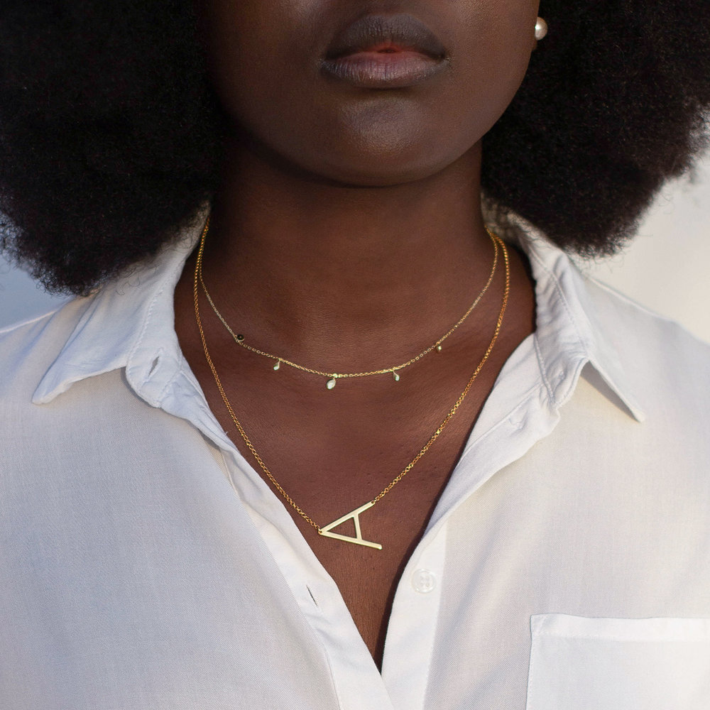 Initial Necklace - Gold Plated - 4