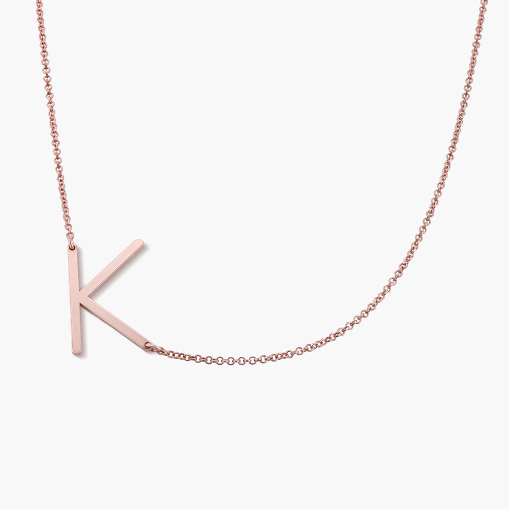 Initial Necklace - Rose Gold Plated