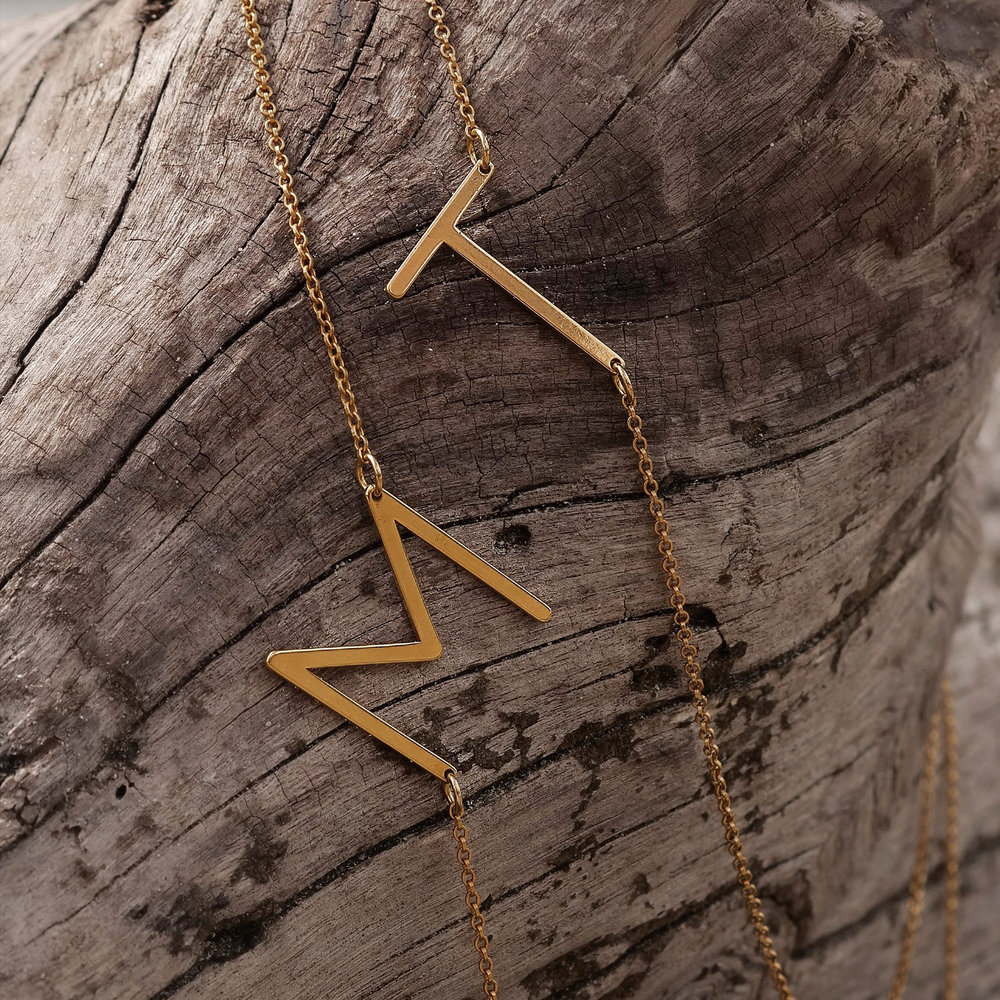Initial Necklace - Gold Vermeil - 1