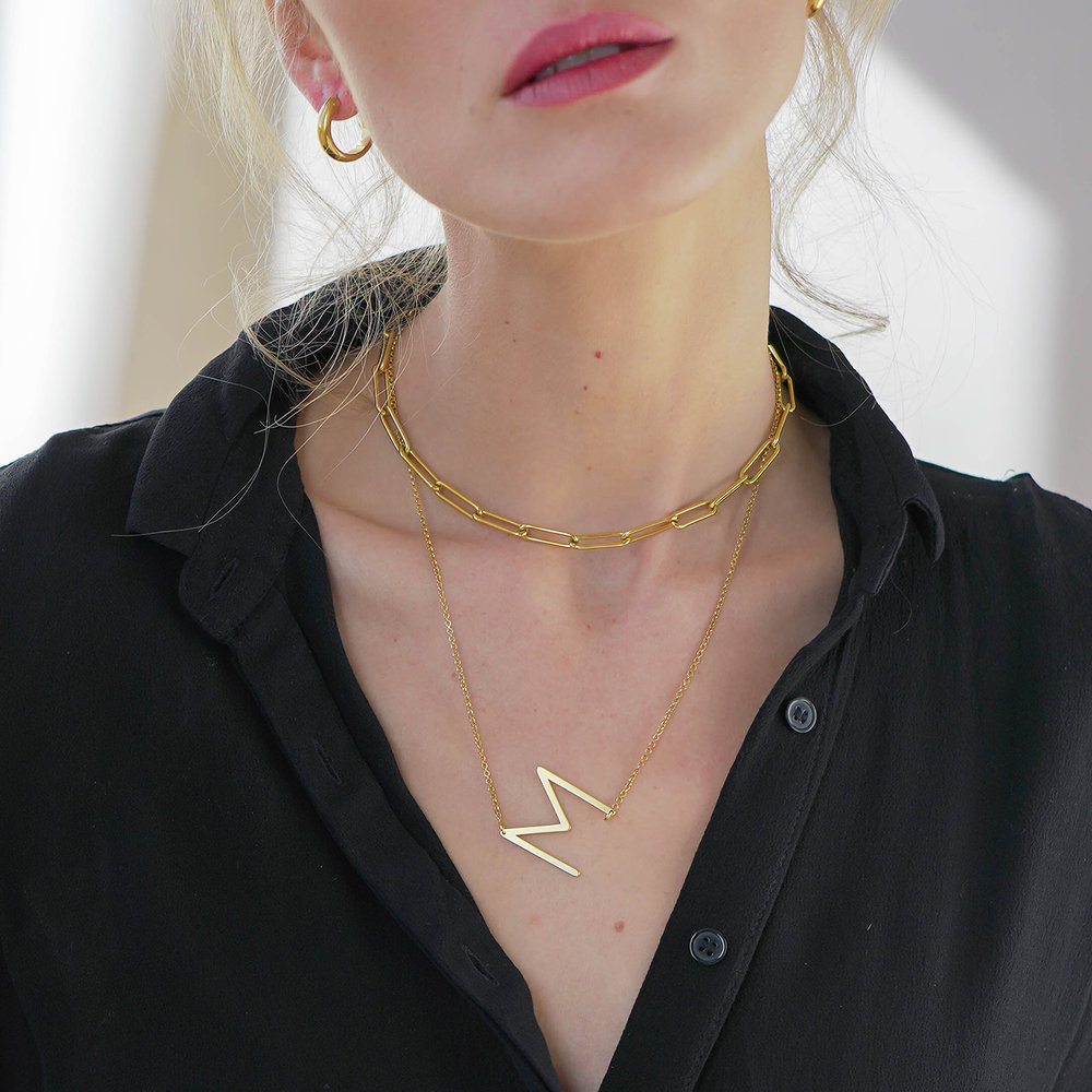 Initial Necklace - Gold Vermeil - 2