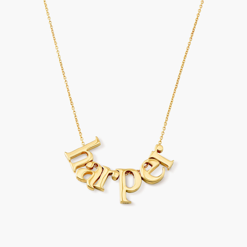 Say My Name Necklace - Gold Plated