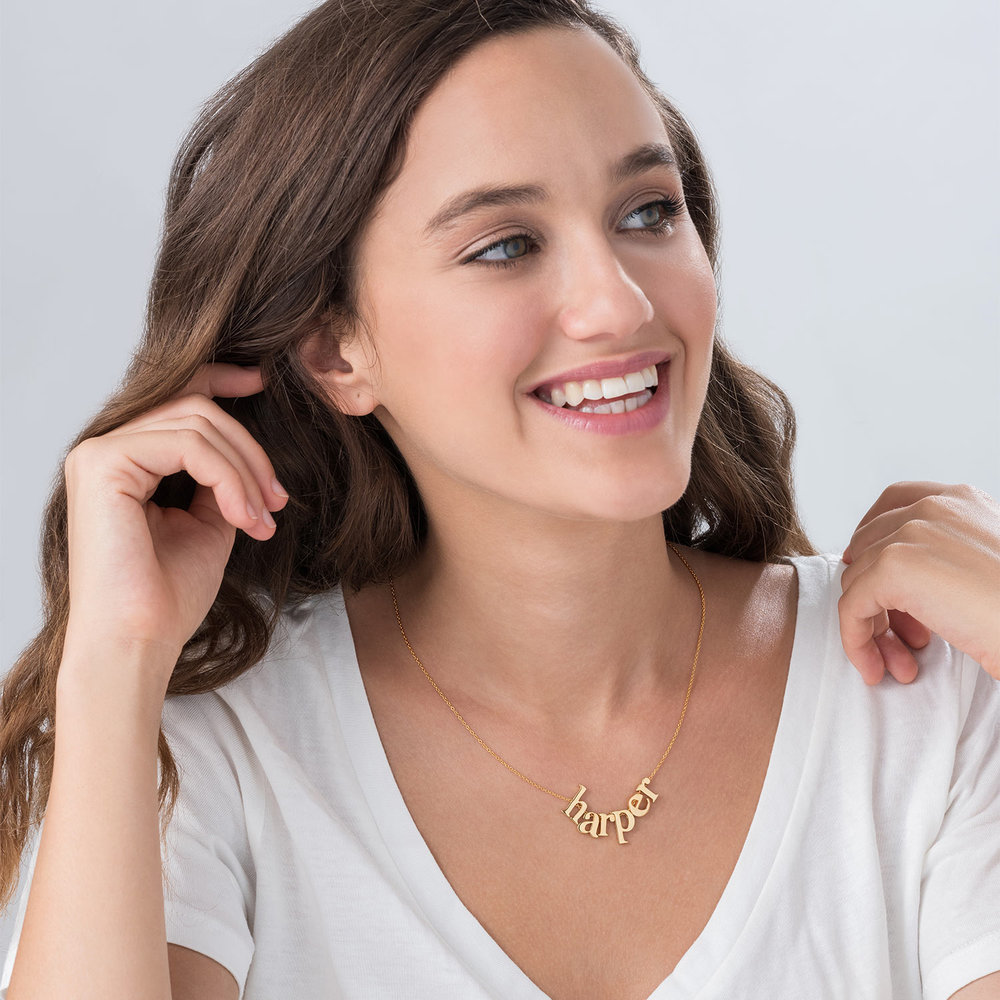 Say My Name Necklace - Gold Plated - 1