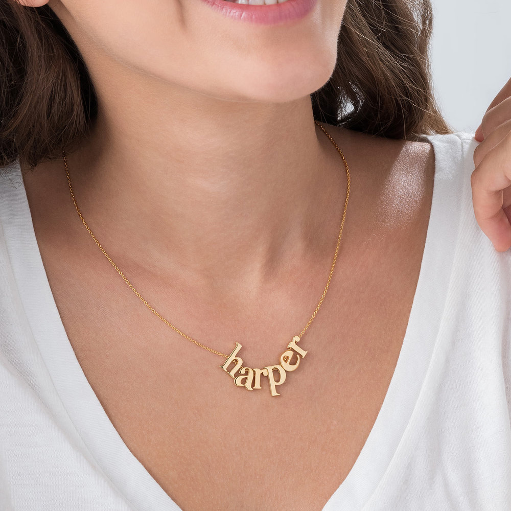 Say My Name Necklace - Gold Plated - 2
