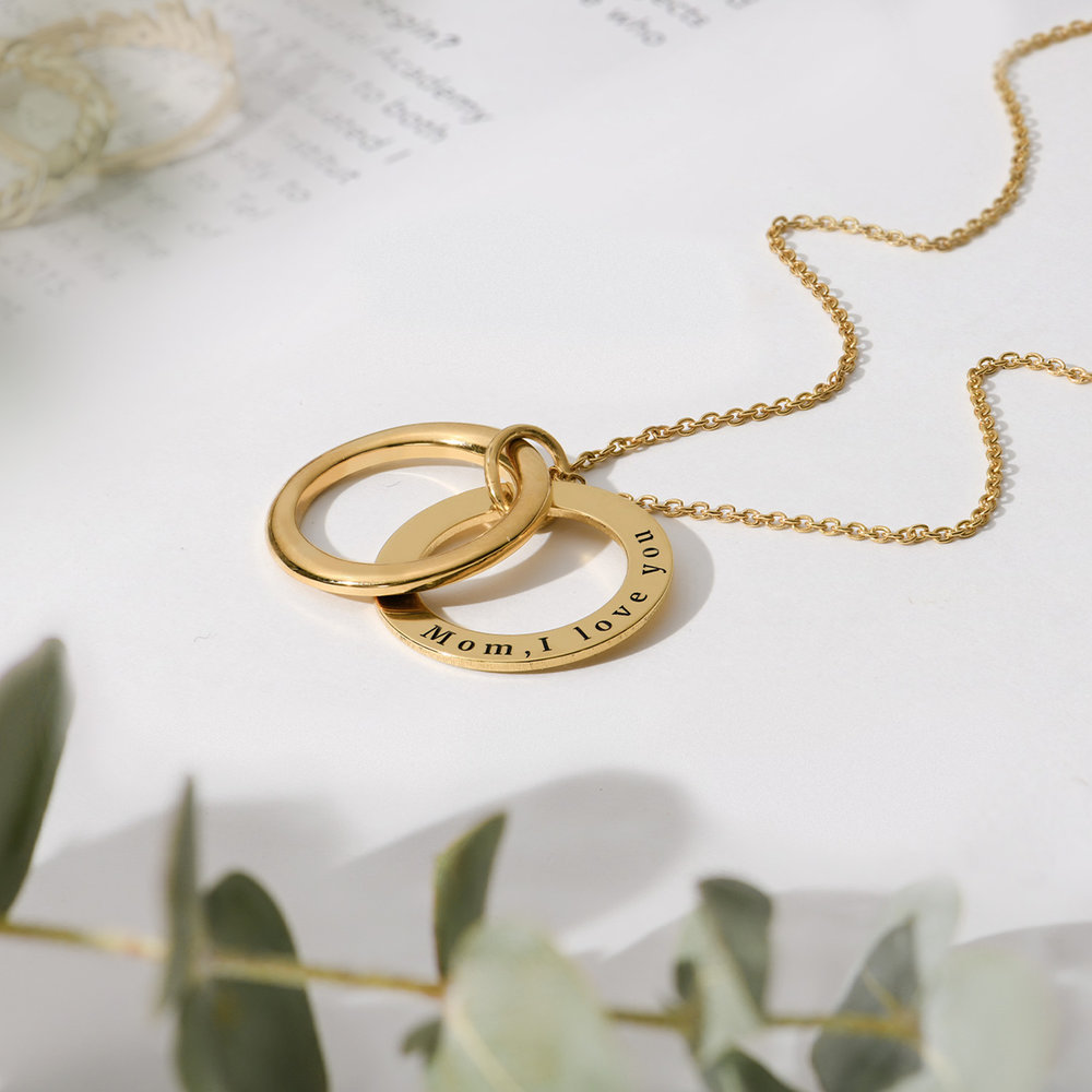 Hidden Message Engraved  Necklace - Gold Plated - 3