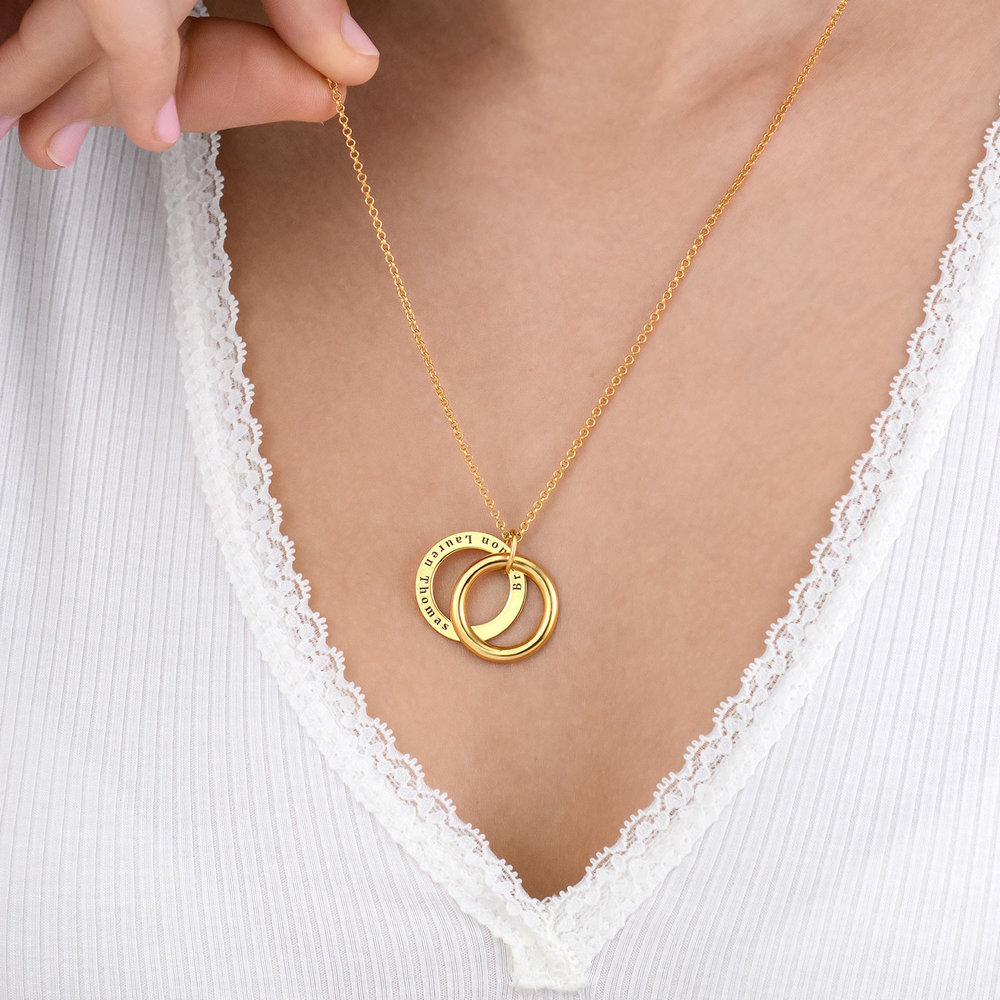 Hidden Message Engraved  Necklace - Gold Plated - 5